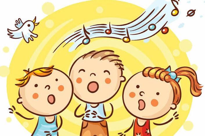 Троих картинки, рисунок поющие дети